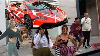 GIRLS REACT TO LAMBORGHINI! *Hilarious*