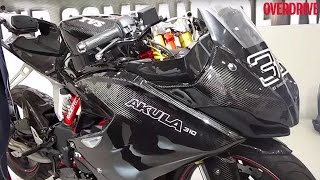 2016 Auto Expo_ TVS Akula 310 walkaround with Arun Siddarth