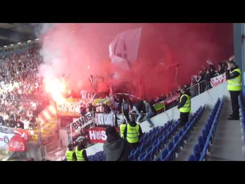 Feuer auf der Alm F95 Pyro + Bengalos | Arminia Bielefeld - Fortuna Düsseldorf | 02.04.16  F95