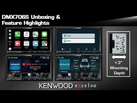 2019 KENWOOD eXcelon DMX706S Digital Multimedia Receiver Unboxing & Feature Highlights