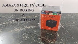 The New Amazon Fire TV 4k with Alexa Cube : First Look and Un-boxing