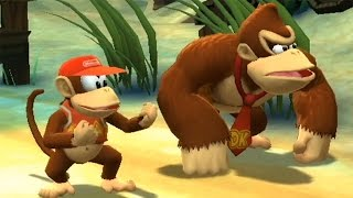 Donkey Kong Country Returns 100% Walkthrough Part 2 - World 2: Beach (All KONG & Puzzle Pieces)