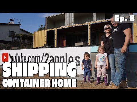 Couple Builds a Shipping Container House EP8