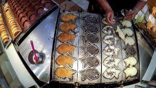 Japaneese Taiyaki, Fish-Shaped Cake. Singapore Street Food at Takashimaya Food Village
