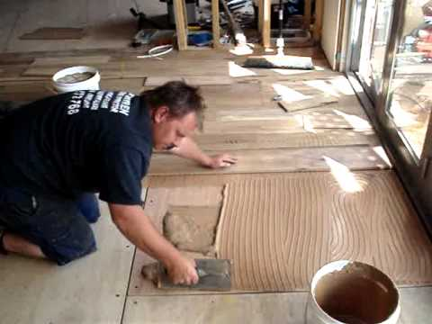 How To Install A Timber Floor On Ply Youtube