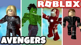 BUILDING SUPERHEROES HQ in ROBLOX AVENGERS TYCOON