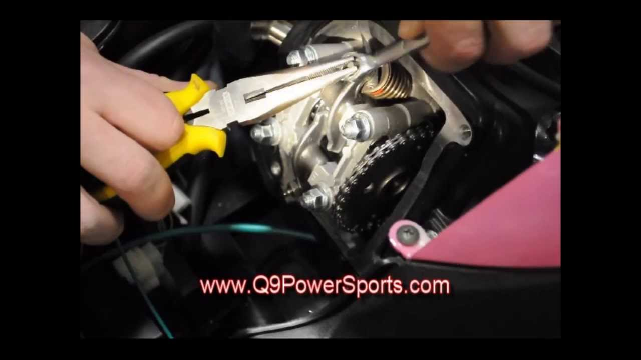 hight resolution of adjusting the intake and exhaust valves on a chinese 50cc gas powered scooter q9 powersports usa youtube