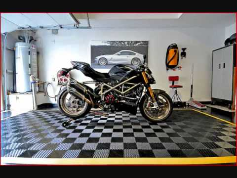 the motorcycle garage youtube. Black Bedroom Furniture Sets. Home Design Ideas