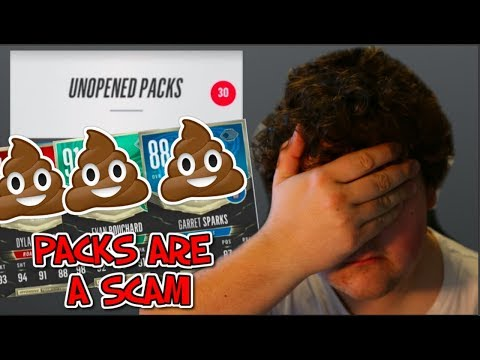 NHL 18 PACKS ARE A HUGE SCAM!! 30 TOTY PACKS OPENED!!