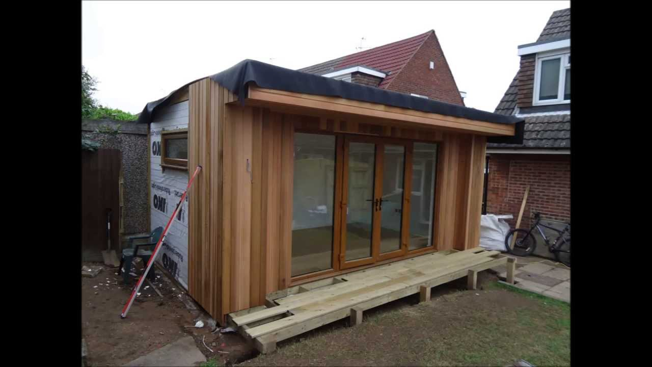 Garden room home gym built by planet design youtube for Cheap garden office buildings