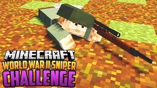 WORLD WAR II SNIPER ONLY CHALLENGE - Minecraft Mod Challenge