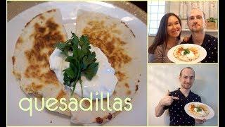 Блюдо из Тортилья - Мексиканская Кесадилья / Mexican quesadillas