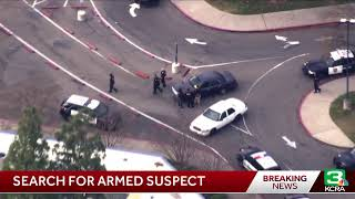 Search for armed suspect at Valley High School in Sacramento
