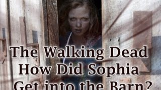 the walking dead how did sophia get into the barn
