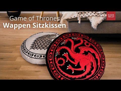 'ne Runde Sache: Game Of Thrones Sitzkissen Zu Stark Und Targaryen