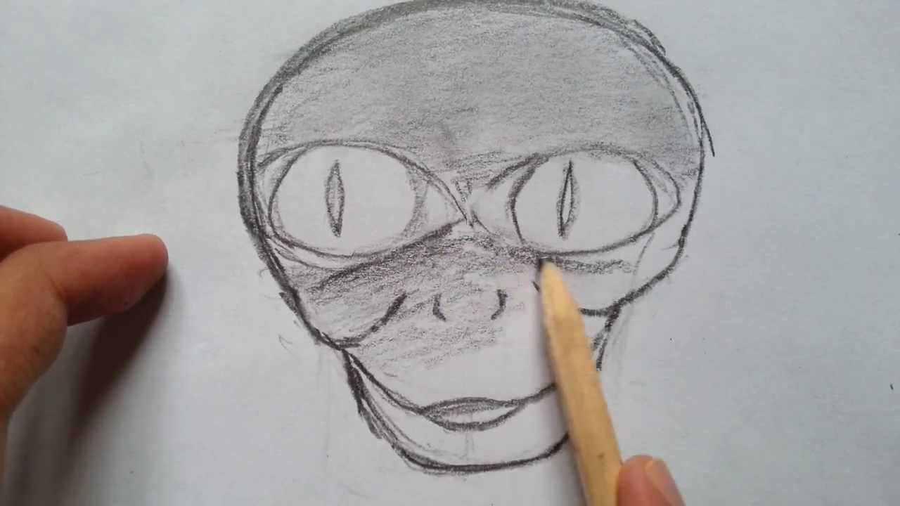 alien head drawing - photo #39