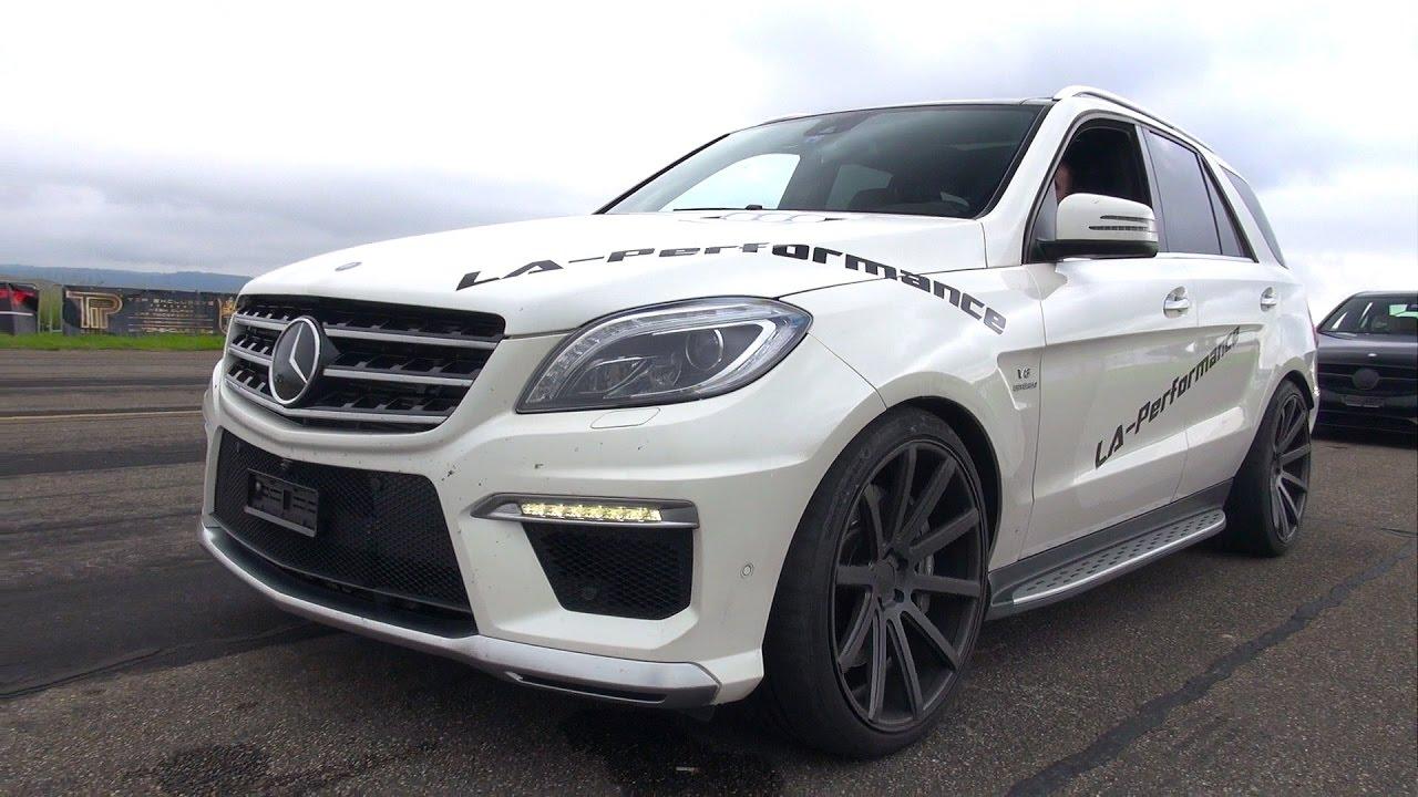 Mercedes Benz Ml63 Amg By La Performance Revs Drag Race Youtube