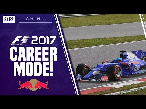 F1 2017 CAREER MODE!!! | TORO ROSSO | DRAMA FROM START TO FINISH [S1 E2 - China]