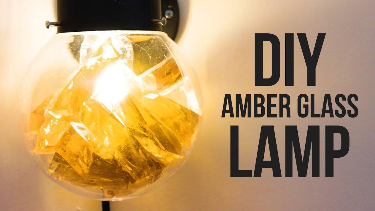DIY Amber Glass Wall Lamp - HGTV Handmade - YouTube
