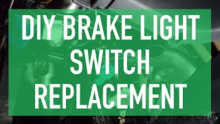 Replacing Rear Brake Light Switch on VW