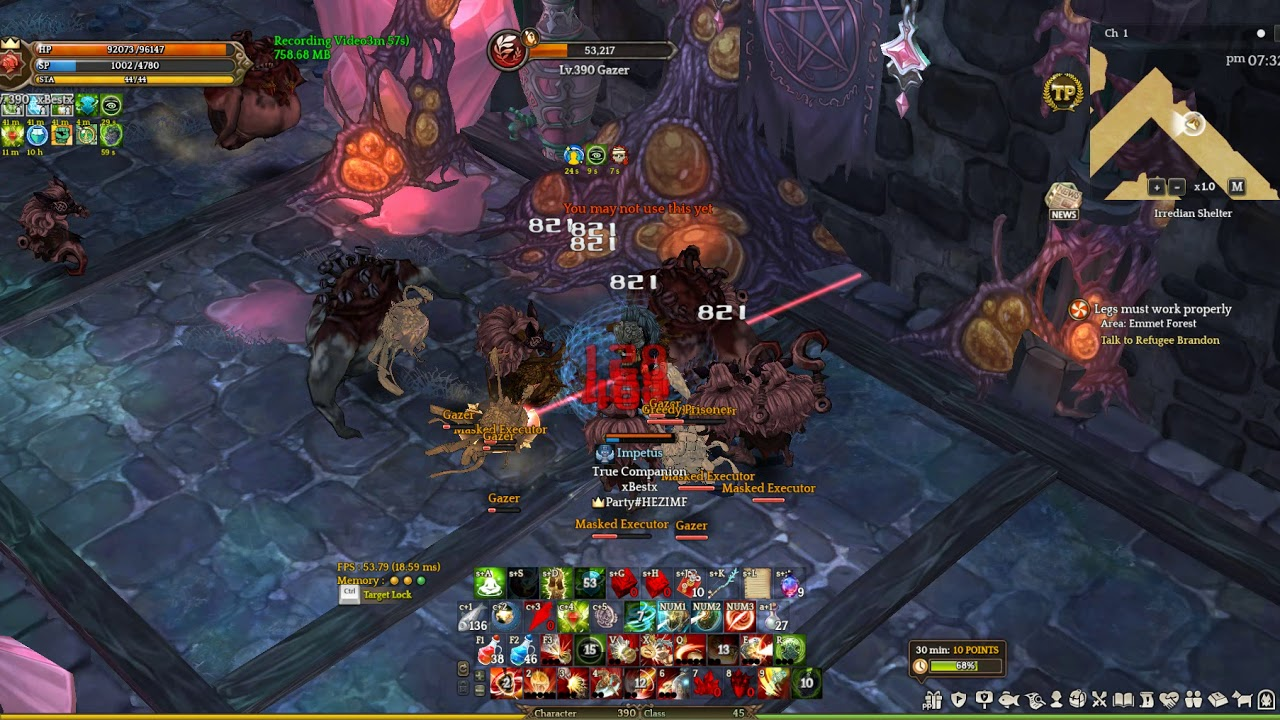 Tree Of Savior Game Play HG shield only