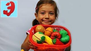 Учим английский язык с Эмилюшей. Фрукты и овощи на английском. Режем фрукты,овощи
