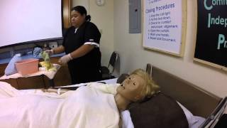 CNA Skill #9 Partial Bed-Bath (Upper Body): Face, Neck, Chest, Abdomen, Arms, Hands