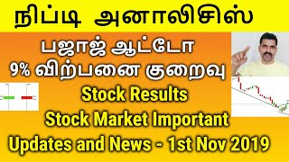 Nifty Analysis | Bajaj Auto Sales Data Stock Market News and Updates | Tamil Share | Intraday Tips