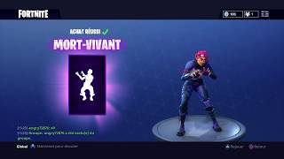FORTNITE I BUY THE SKIN TERREUR FLUO AND THE LIVING DANCE !!!
