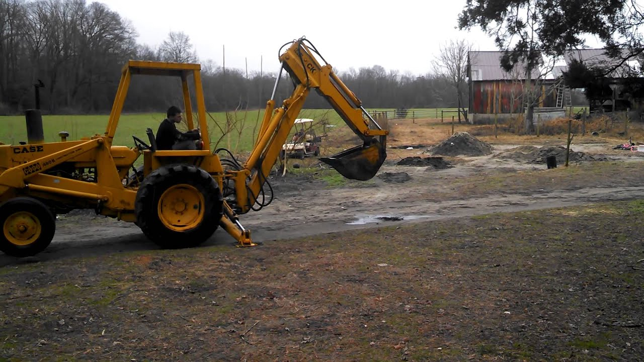 Case 480 Backhoe Stubbs