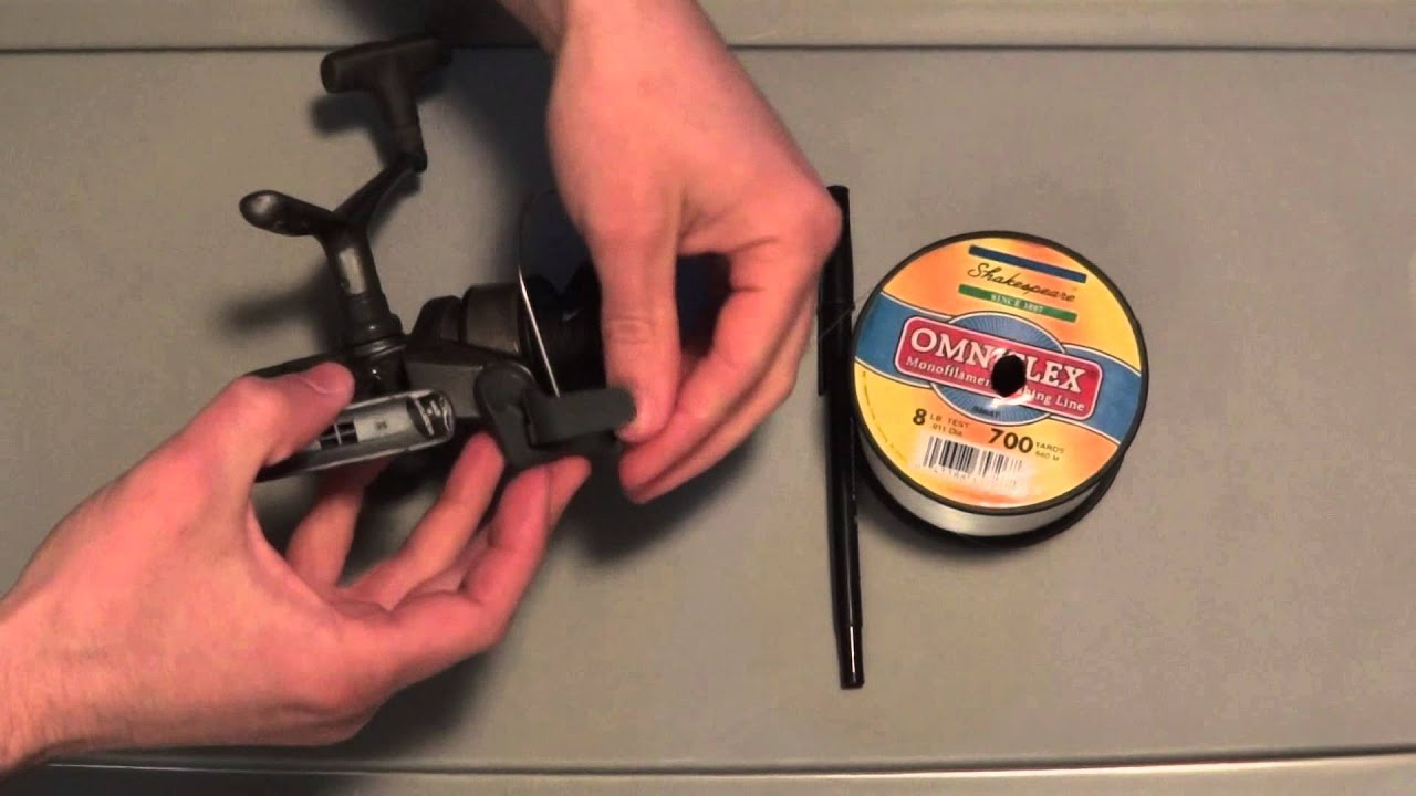 How To Put Line On An Open Faced Reel Youtube