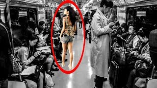 A Young Woman Offered Her Seat To An Elderly Man, What Happened Next Was Extraordinary!