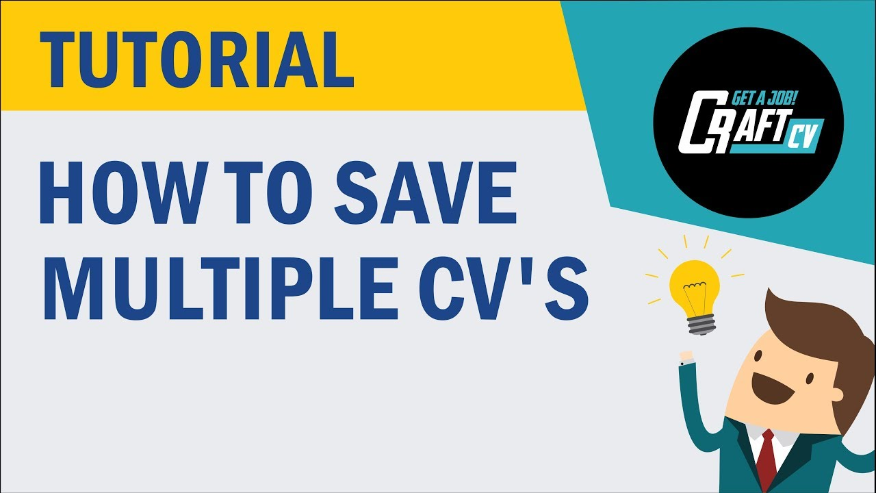 CV Resume Builder Save Multiple CVs Tutorial YouTube