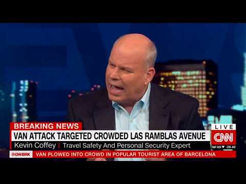 CNN Interview of Travel Safety Expert Detective Kevin Coffey Regarding Barcelona Vehicle Attack