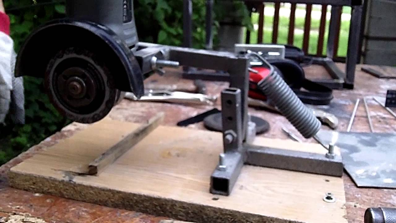 Angle Grinder Stand 2013 06 08 Youtube