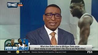 First Things First  DEBATEHow shocking was 1 Duke falling to 2 Michigan State in Elite 8