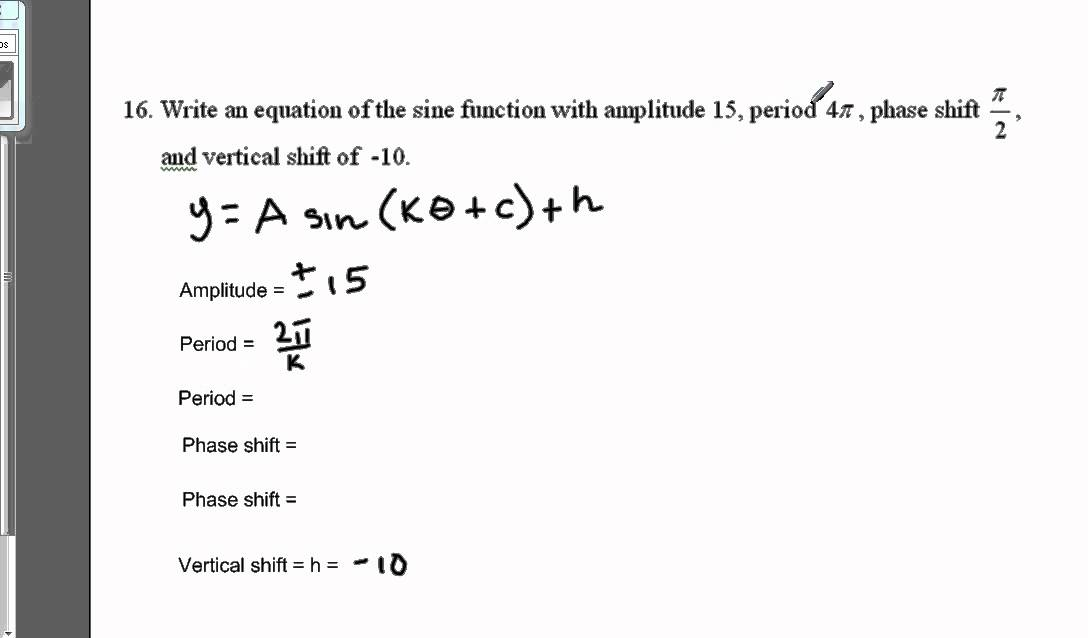 Write Trig Equation In General Form Youtube