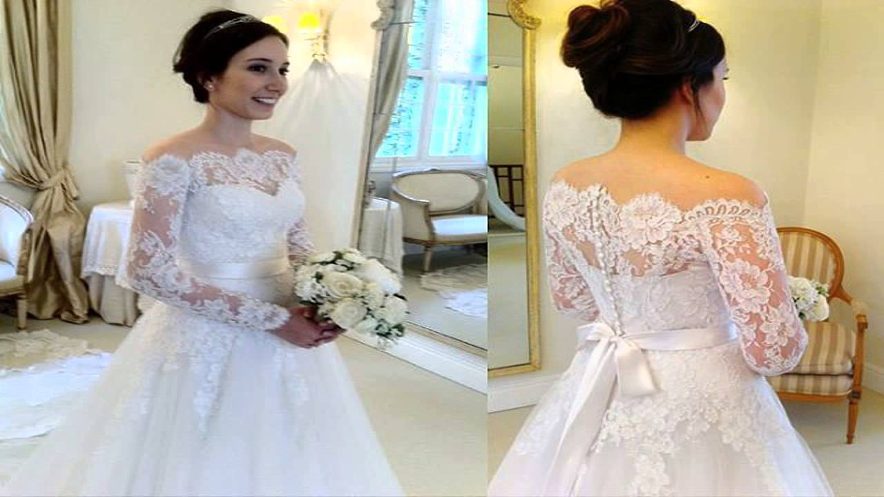 Wedding dresses thrift stores, cheap wedding dress - YouTube