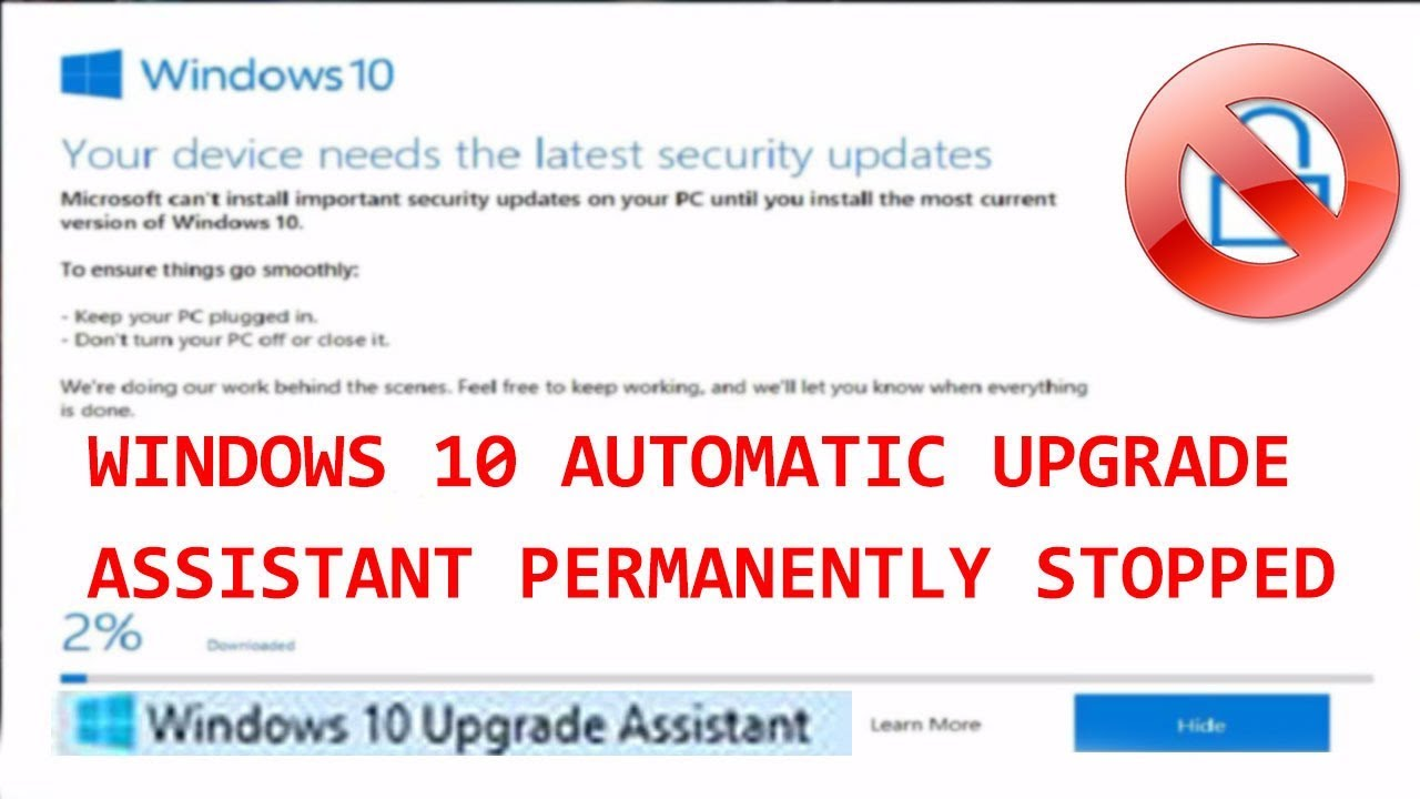 windows 10 automatic upgrade assistant permanently stopped