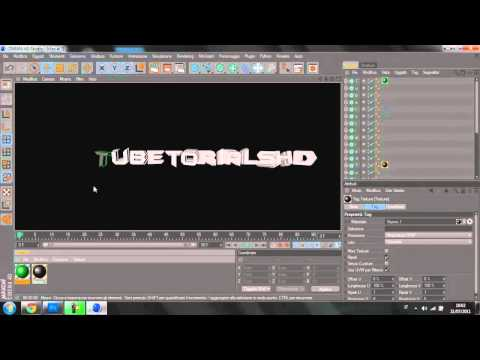 #2-Cinema 4D-Tutorial Creare Testo Colorato + Render Settings C4D