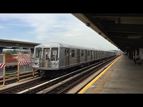 NYC Subway HD 60fps: R160 & R46 F Culver Express Trains & Special Moves @ Avenue N (6/23/16)