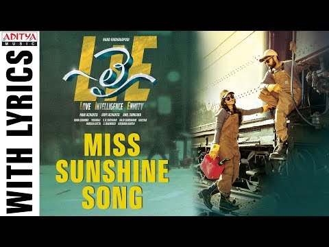 Miss Sunshine Song With Lyrics | Lie Songs | Nithiin , Megha Akash | Mani Sharma | Hanu Raghavapudi