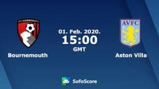 Прогноз на матч Чемпионата Англии Борнмут - Астон Вилла смотреть онлайн бесплатно 1.02.2020