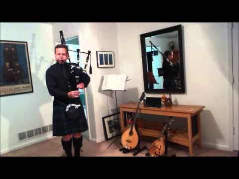 Tom Crawford, bagpiper  Abide With Me & Ill Fly Away  Bagpipes