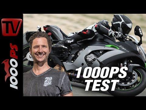 1000PS Test - Kawasaki Ninja ZX-10R SE 2018 - Magisches Fahrwerk