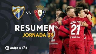 Resumen de Málaga CF vs CA Osasuna (1-2)