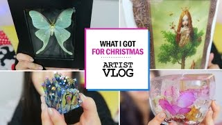 What an ARTIST got for Christmas || crystals, prints, & studio decor!