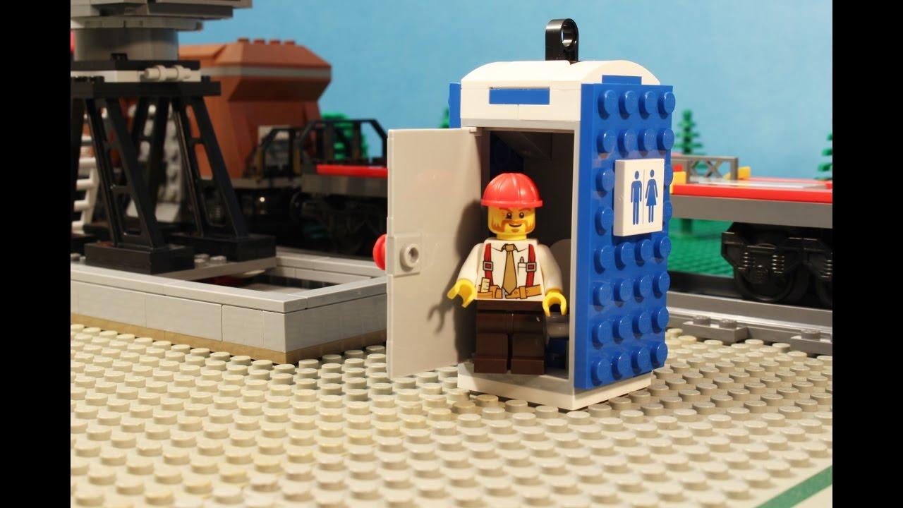 LEGO Portable Toilet - Stop Motion Video - YouTube