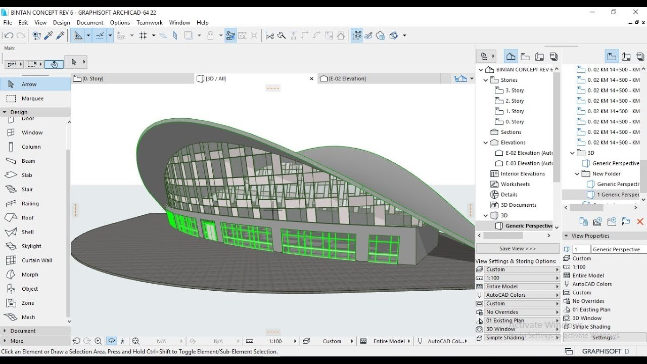 Tutorial ARCHICAD 22 Create a Shell Roof