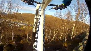 [Gopro HD] Riding Downhill in Tromsø Norway